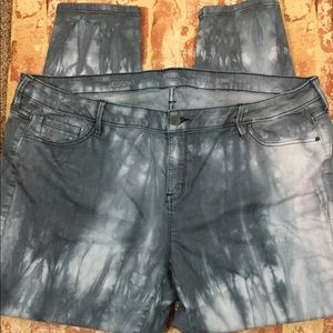 a.n.a. Jeggings Tie Dye/Acid Wash Sz 20